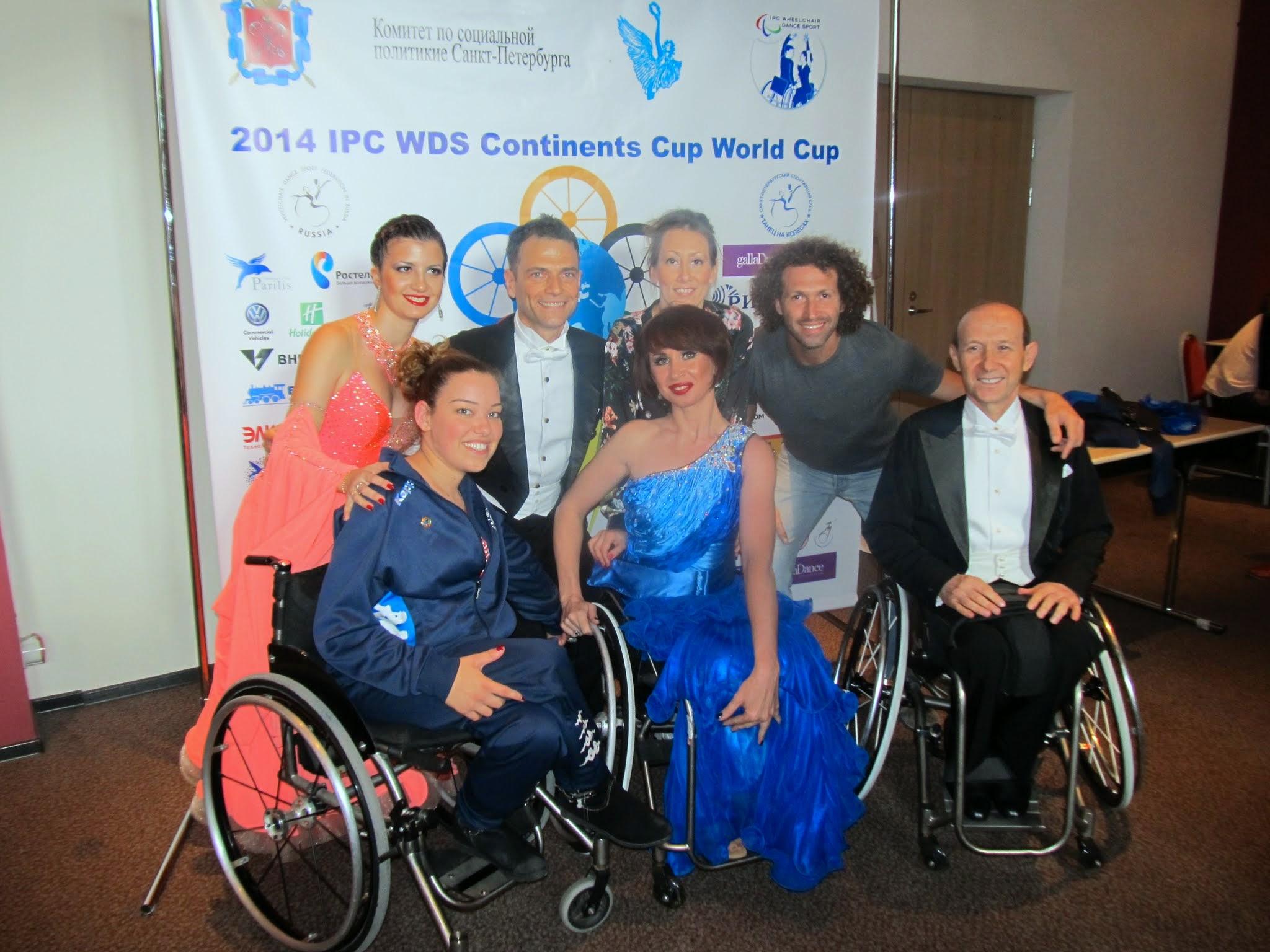 תחרות גביע העולם בריקודים סלוניים ולטיניים בכיסאות גלגלים